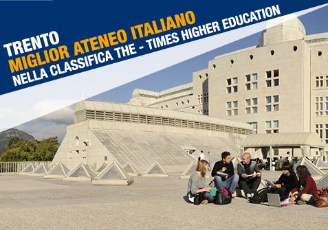 Trento miglior Ateneo italiano nella classifica THE - Times Higher Education