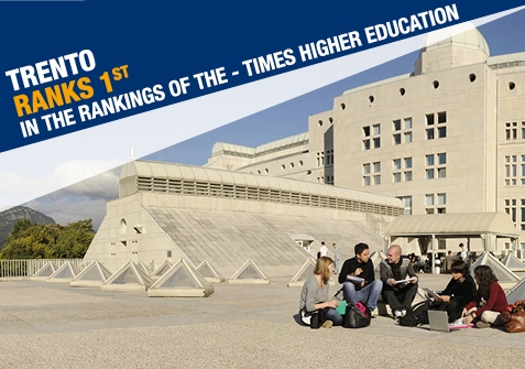 Trento ranks 1st in the rankings of THE - Times Higher Education